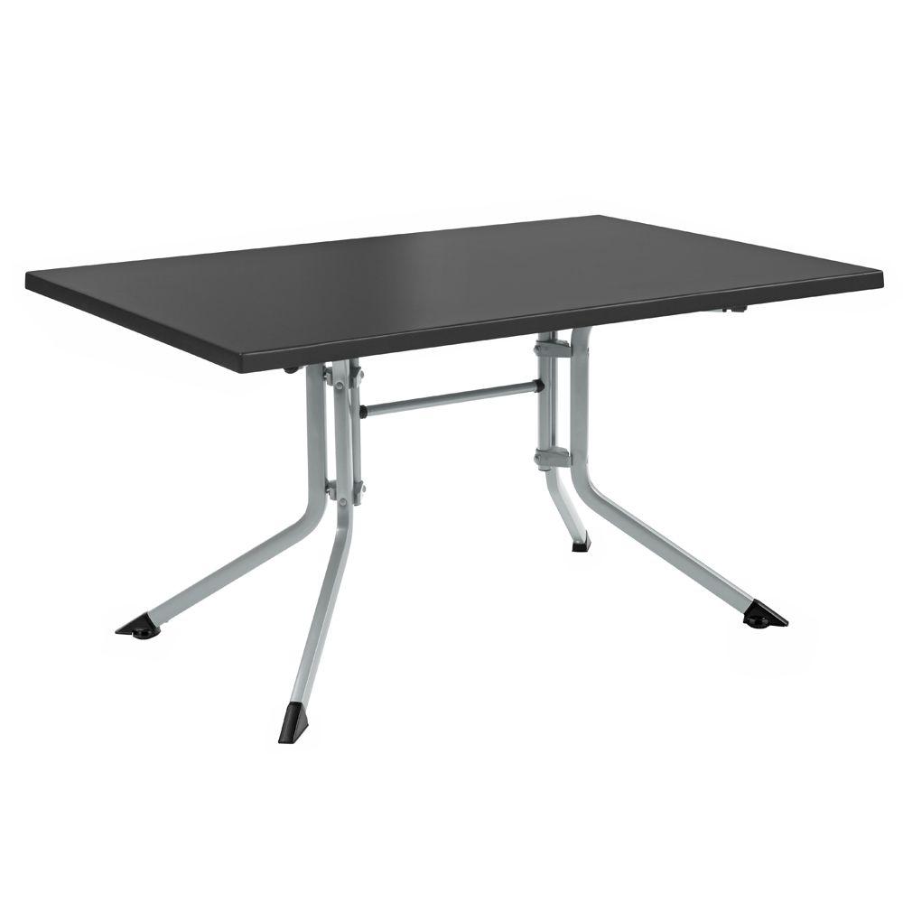 table de jardin pliante r sine kettler l115 l70 cm argent gris 1 colis 120 x 76 x 14 cm gamm vert. Black Bedroom Furniture Sets. Home Design Ideas
