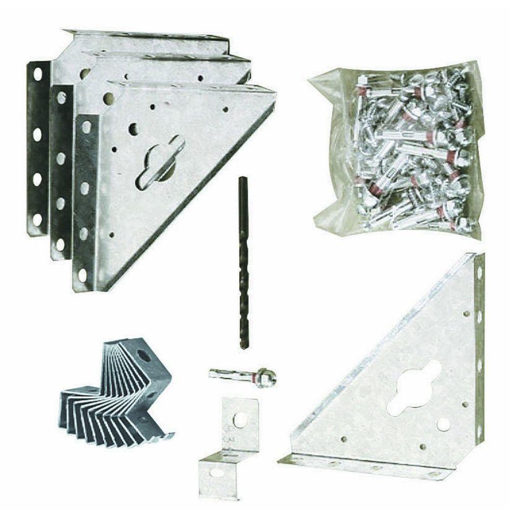 Kit d 39 ancrage ak100 pour abri m tal sur dalle en b ton - Produit pour dalle beton ...
