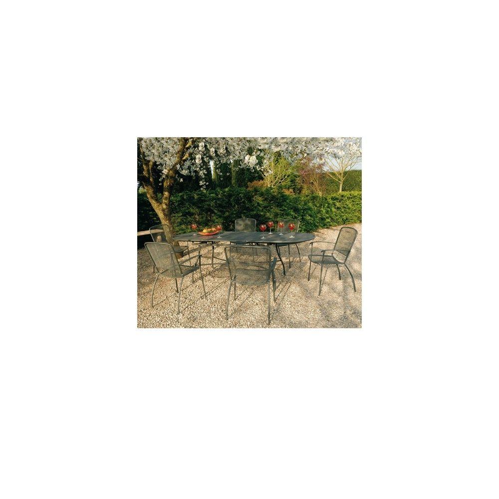 Table extensible ovale Evo - 180+60 x 90 cm - Fer ancien Carton 183 ...