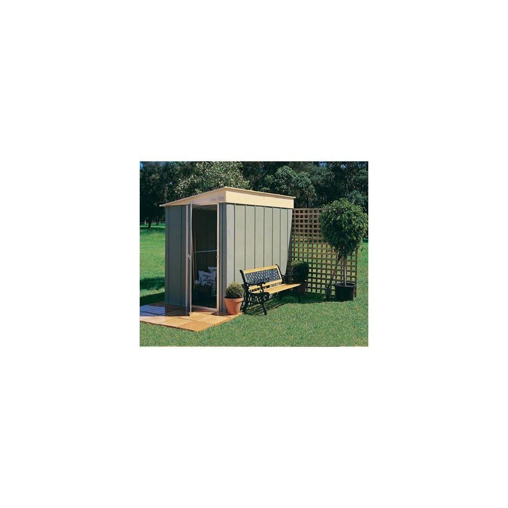 abri de jardin adossable monopente en m tal 3 78 m hors tout treco colis livraison. Black Bedroom Furniture Sets. Home Design Ideas
