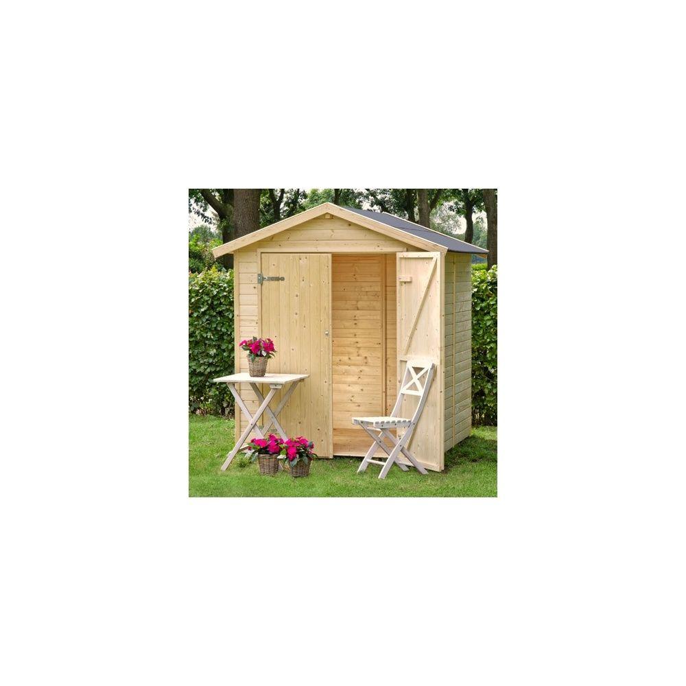 Abri de jardin nyland m hors tout en bois 14 mm avec plancher 1 palette l 180 x l 120 x - Abri jardin gamm vert nice ...