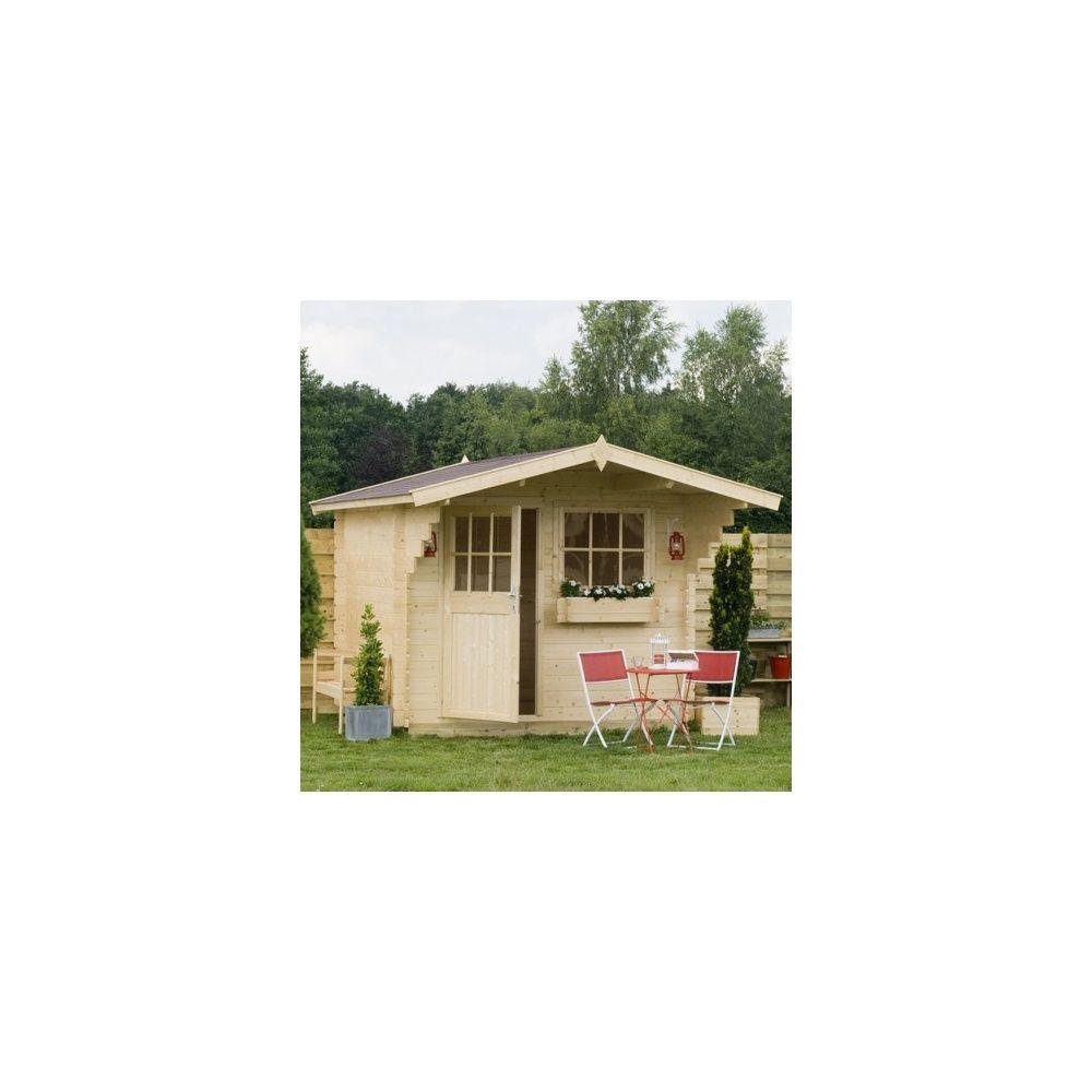 abri de jardin gustav 6 3 m avec avanc e de toit bois 28 mm 3 colis gamm vert. Black Bedroom Furniture Sets. Home Design Ideas
