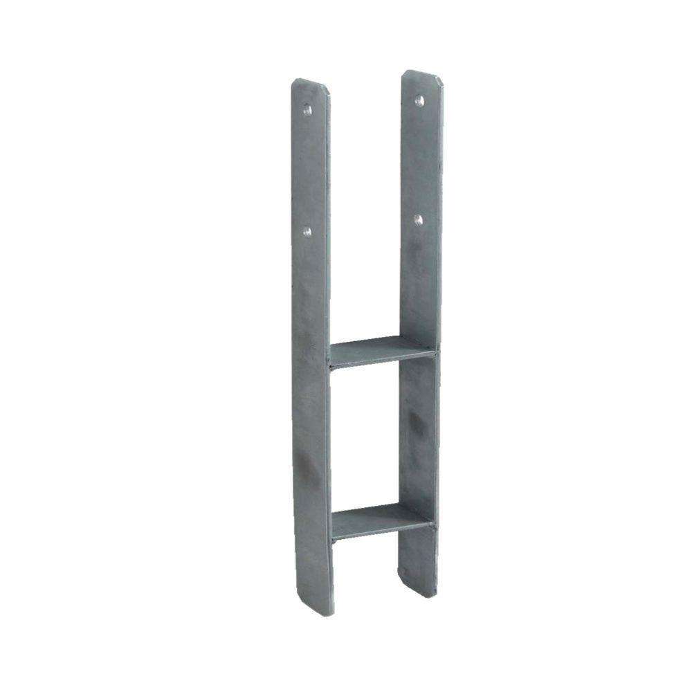 Support en H à sceller pour carport 12×12 cm