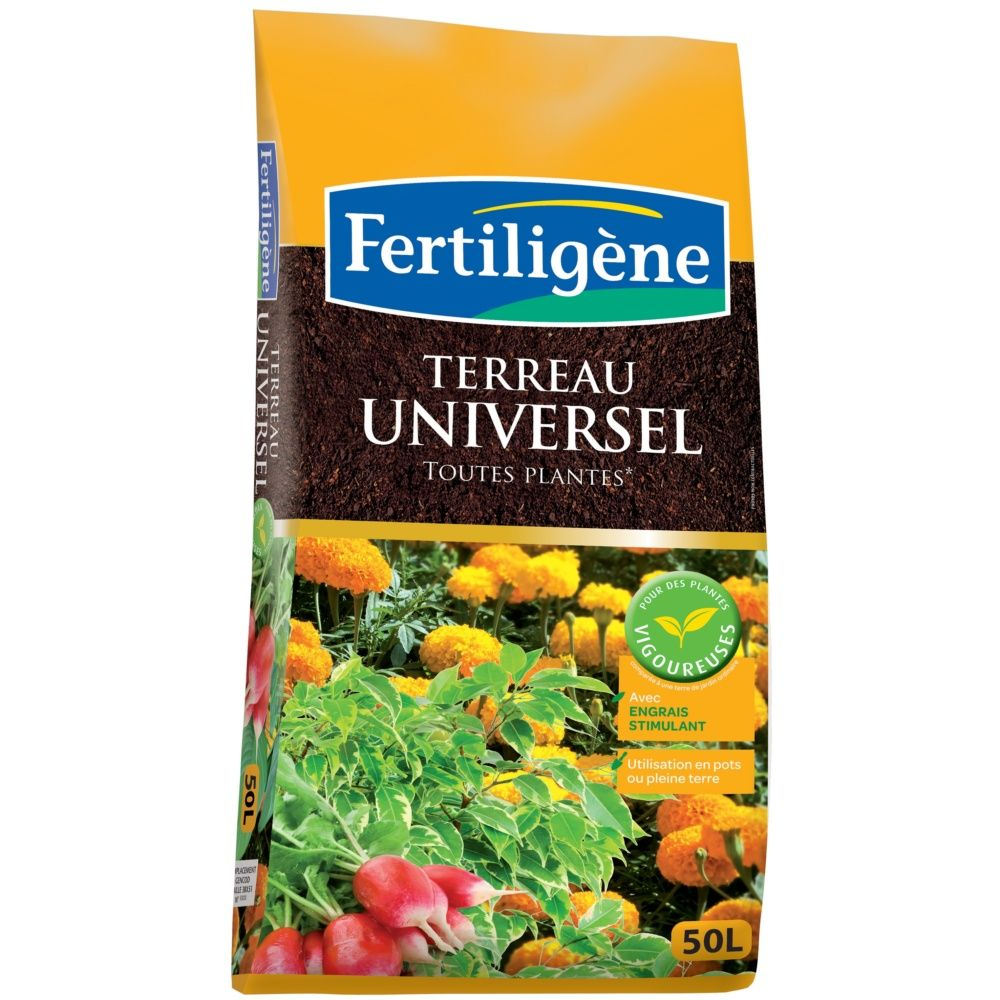 terreau universel 50l fertilig ne sac de 50l gamm vert. Black Bedroom Furniture Sets. Home Design Ideas