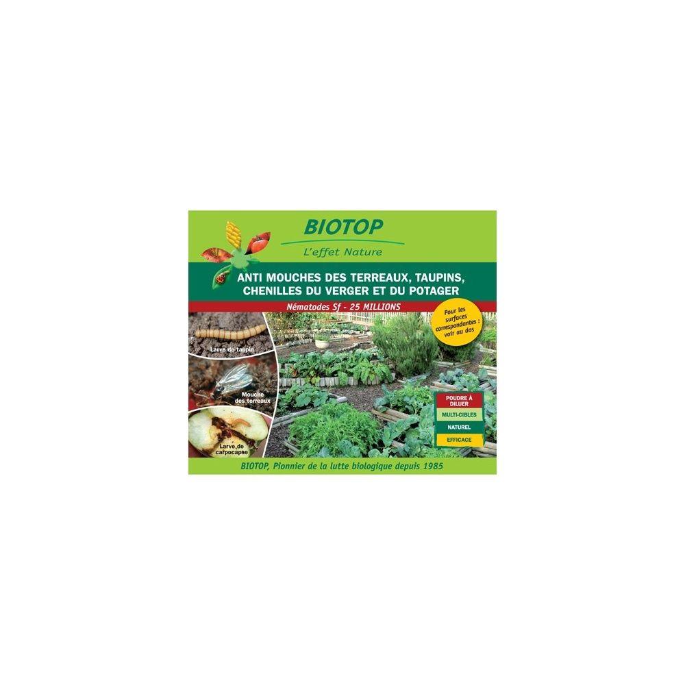 Nématode Sf contre mouches des terreaux 50m2 de traitement Biotop
