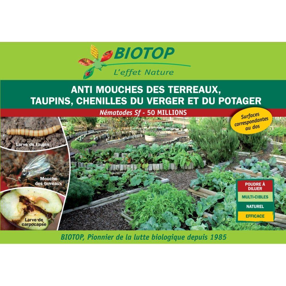 Nématode Sf contre taupins 100m2 de traitement Biotop