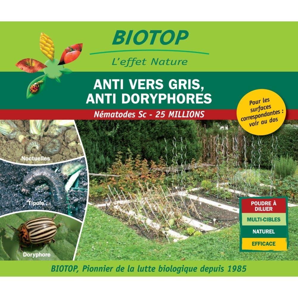 Nématodes Sc (25 millions) contre vers gris (noctuelles, tipules, courtilières) – Biotop