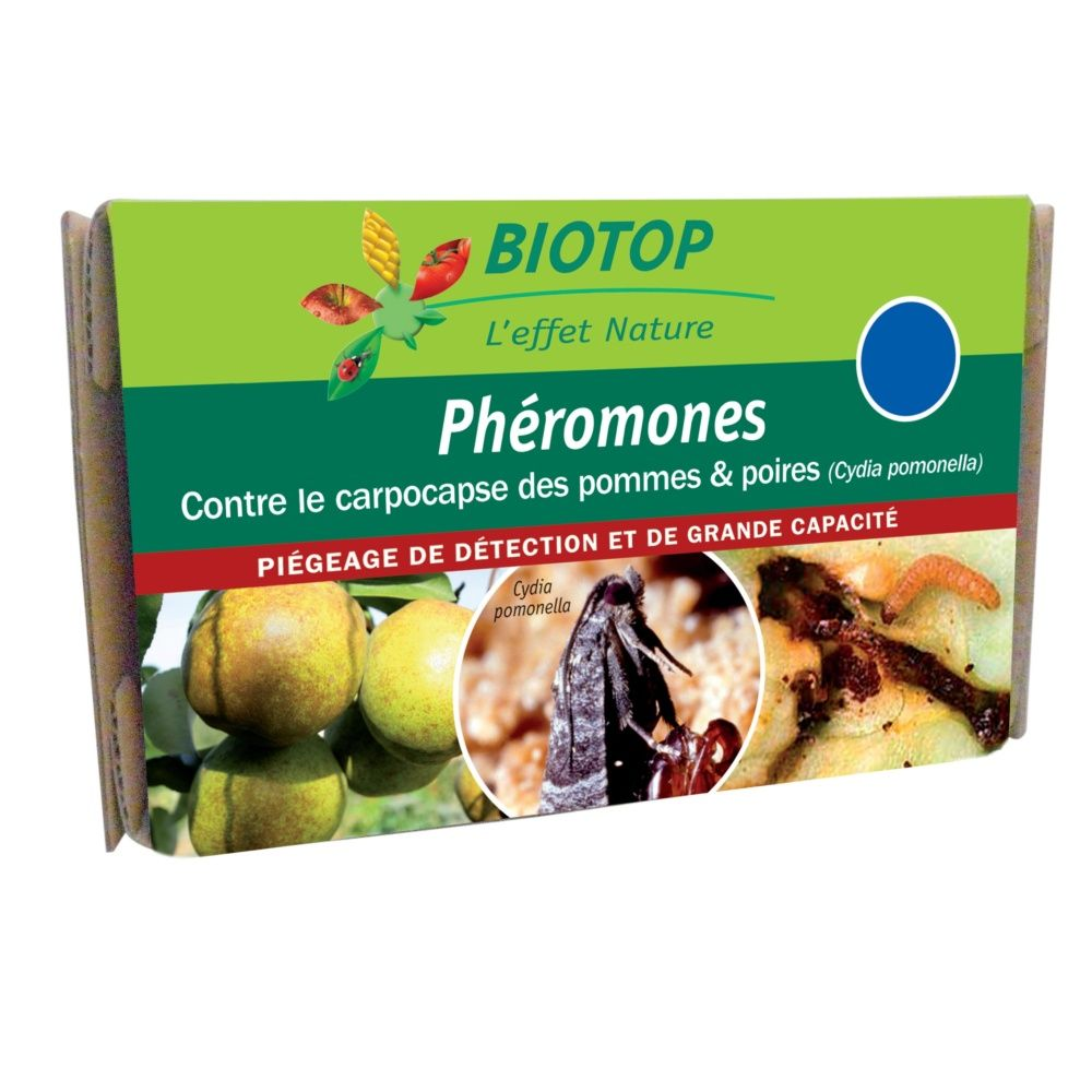 Phéromones carpocapse des pommes et des poires (2 capsules) – Biotop