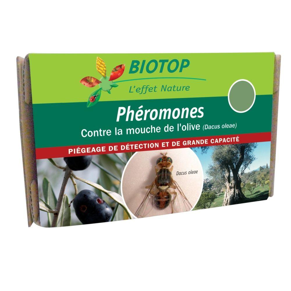 Ph romones mouche de l 39 olive 2 capsules biotop carton gamm vert - Insecticide mouche de l olive ...