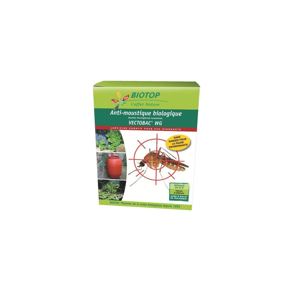 Anti moustiques vectobac wg pour eaux stagnantes grandes surfaces biotop carton gamm vert - Produit anti moustique pour jardin ...