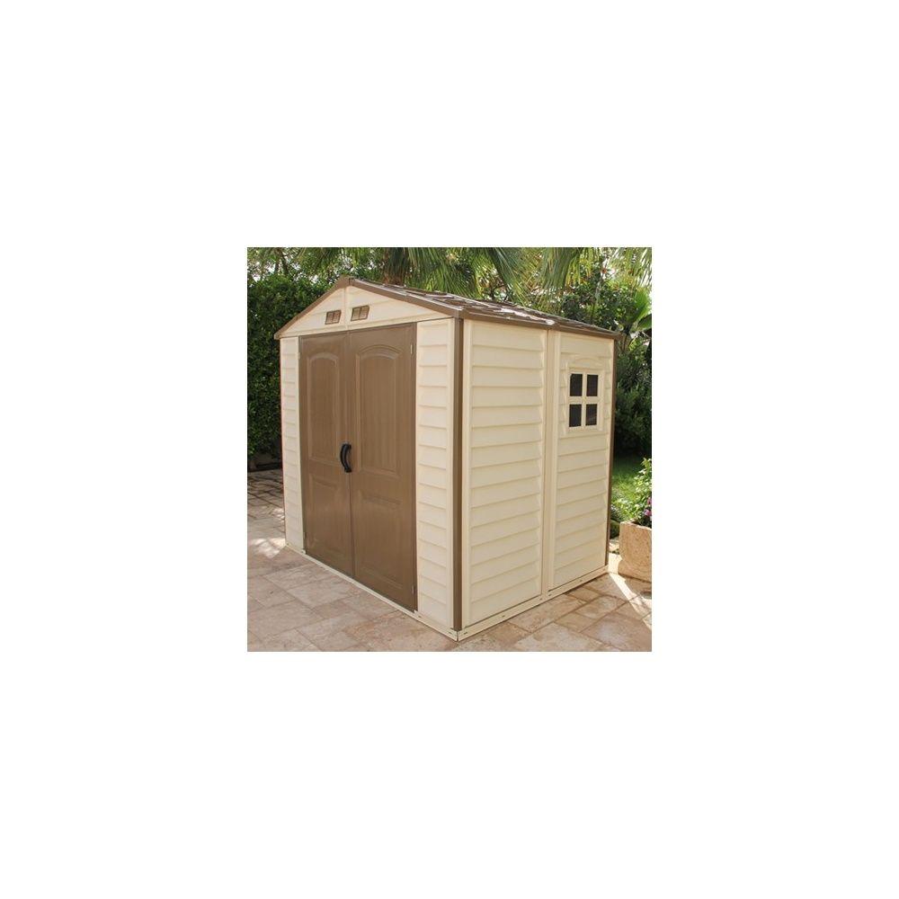 abri de jardin en pvc woodstyle m hors tout colis gamm vert. Black Bedroom Furniture Sets. Home Design Ideas