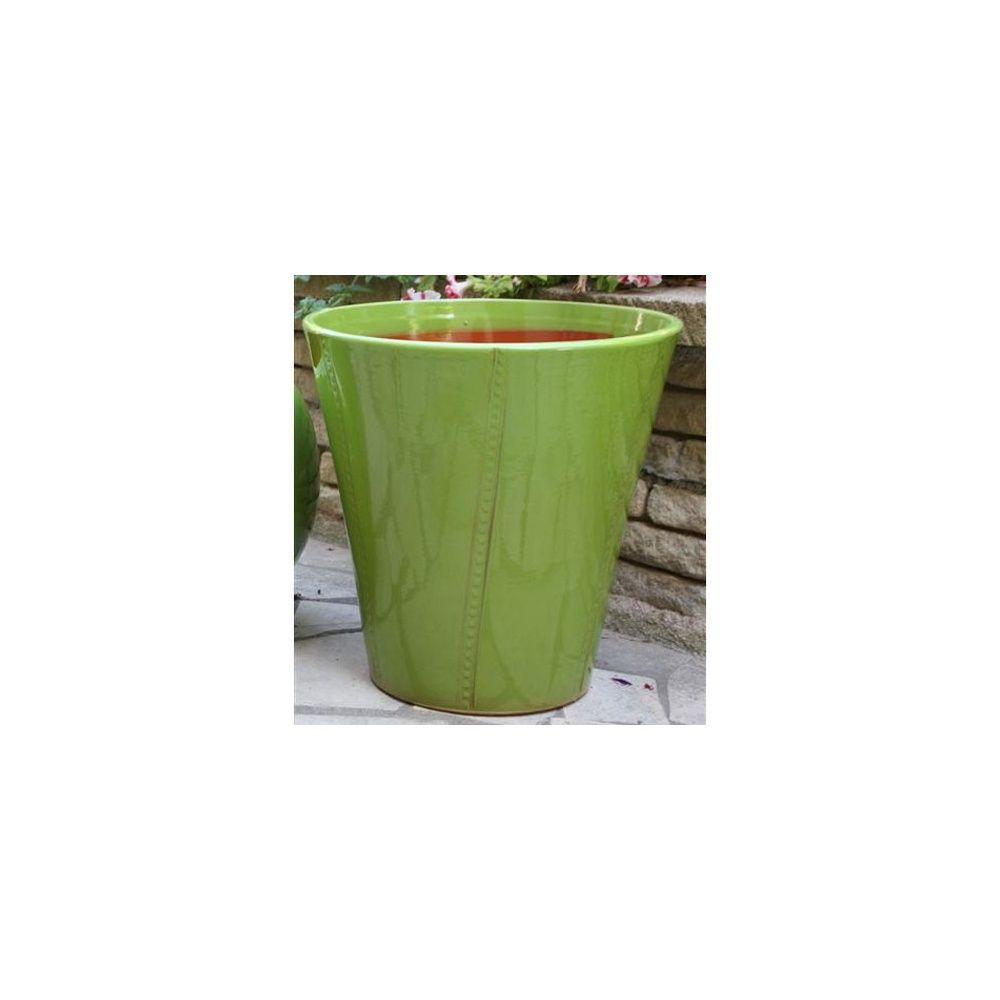 pot en terre cuite maill e palerme chlorophyle d40 h47 gamm vert. Black Bedroom Furniture Sets. Home Design Ideas