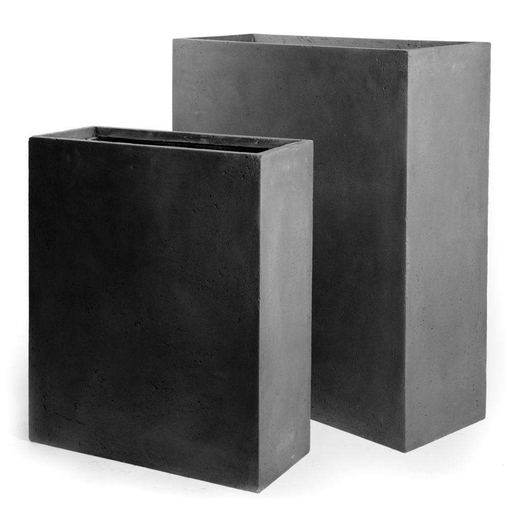 bac fleurs fibre de terre clayfibre l80 h92 cm anthracite gamm vert. Black Bedroom Furniture Sets. Home Design Ideas