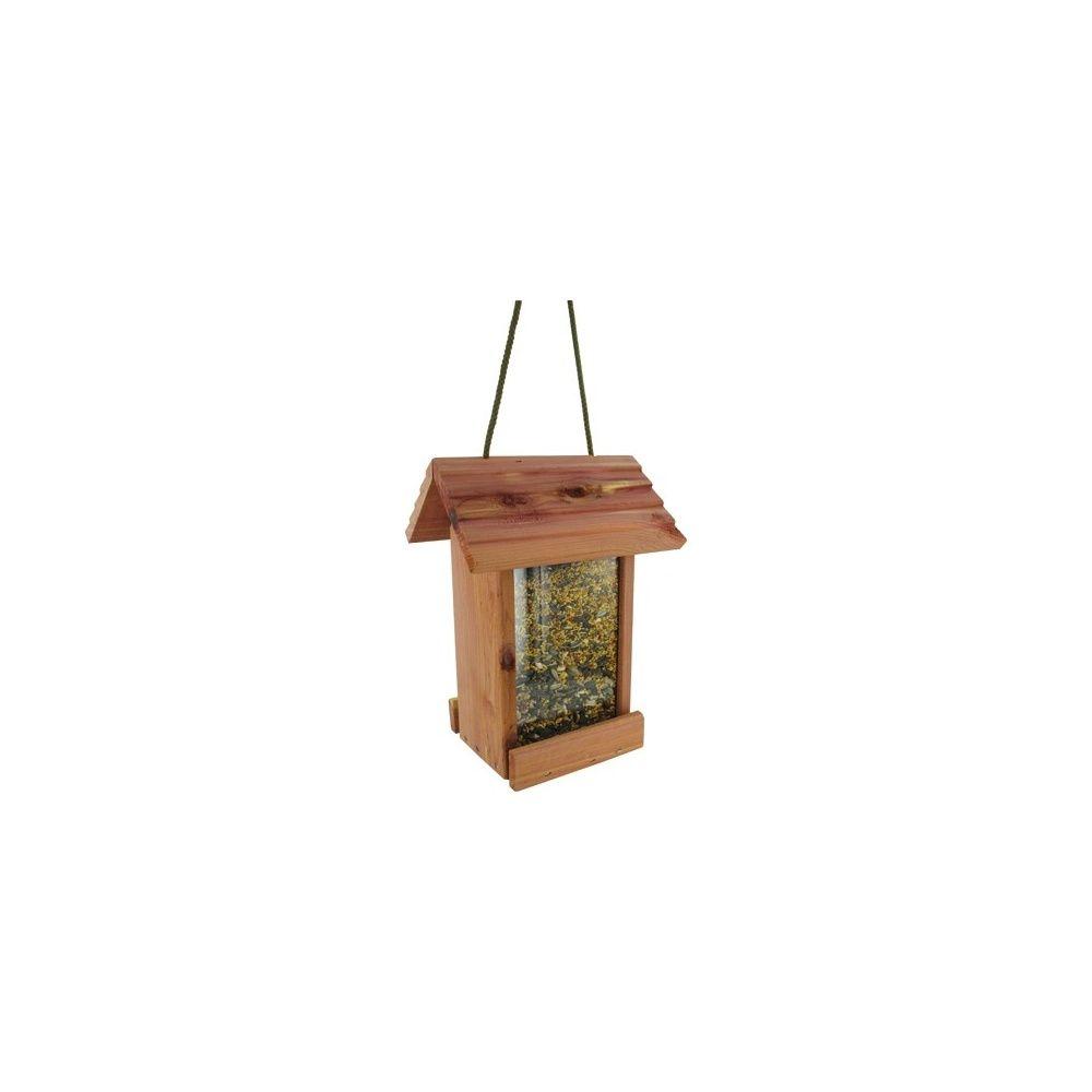 Mangeoire oiseaux pour graines petit format cedar deli - Distributeur de graines pour oiseaux ...