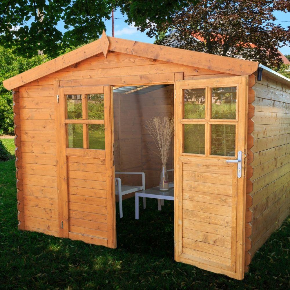 Abri de jardin bois toit polycarbonate 9 42 m ep 28 mm - Toit abris de jardin ...