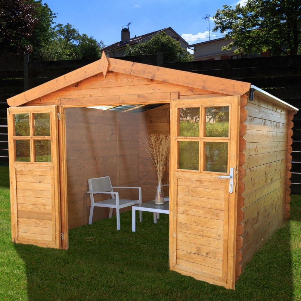 Abri de jardin bois toit polycarbonate 9 42 m ep 28 mm soleil 1 palette l 305 x l 120 x h 43 - Toit abri de jardin en bois ...