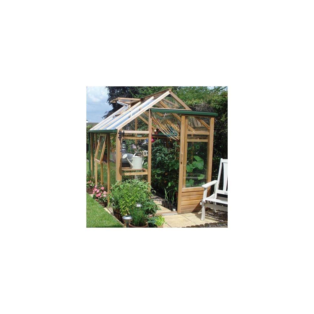 Serre de jardin en bois et verre tremp classic hors for Maison bois et verre