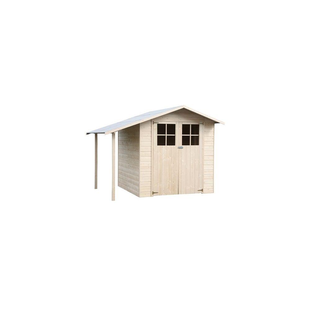 Abri de jardin 3 36 m2 bois 15mm avec plancher et b cher de 1 9 m2 colis l 200 cm x l 95 cm x h - Abri de jardin en bois avec plancher ...