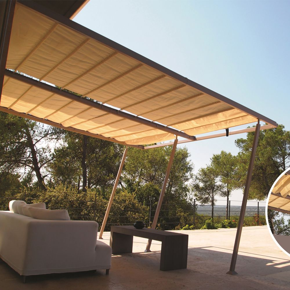 tonnelle toit retractable pergola weka lamellcoll toit. Black Bedroom Furniture Sets. Home Design Ideas