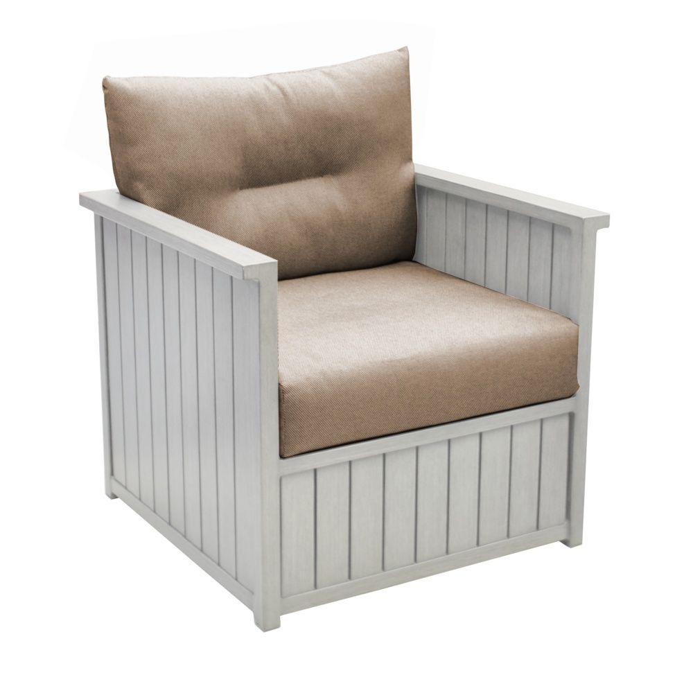 fauteuil de jardin milano aluminium greige gamm vert. Black Bedroom Furniture Sets. Home Design Ideas