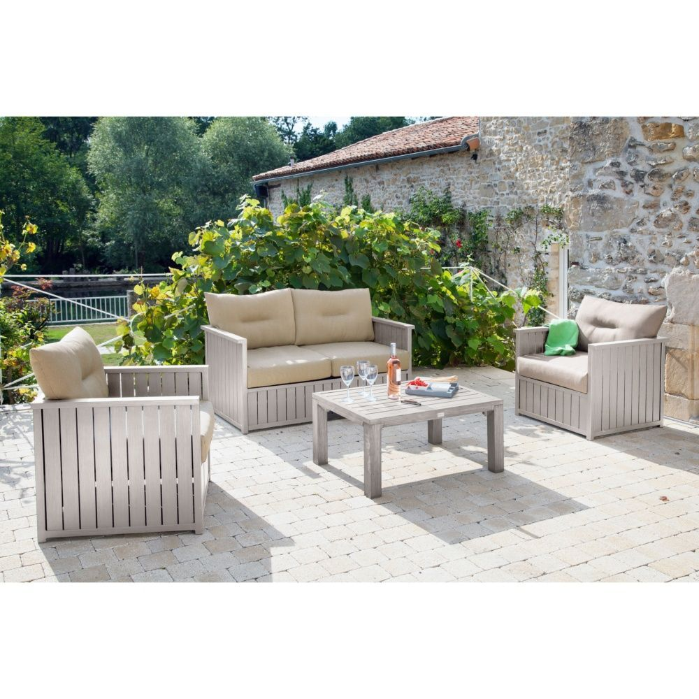 Salon de jardin milano canap table basse 2 for Salon canape et 2 fauteuils