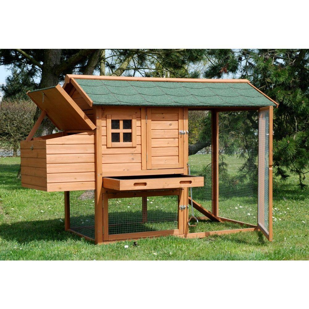 poulailler indiana 2 3 poules colis 171 x 81 x 110 cm gamm vert. Black Bedroom Furniture Sets. Home Design Ideas