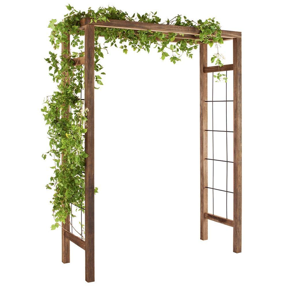 Pergola ikebana en bois trait carton pr mont gamm vert - Salon de jardin en bois gamm vert ...