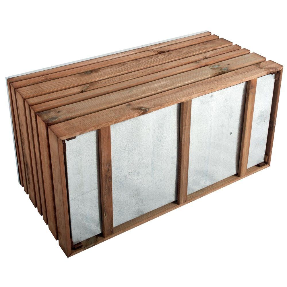 bac fleurs bois trait autoclave lignz l100 h50 cm. Black Bedroom Furniture Sets. Home Design Ideas