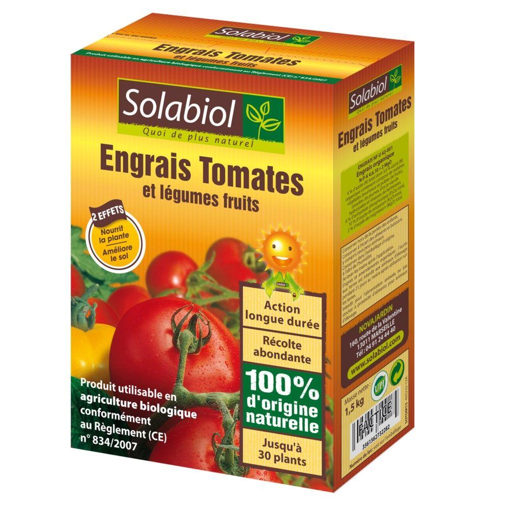 engrais bio tomates 1 5 kg solabiol boite de 1 5 kg. Black Bedroom Furniture Sets. Home Design Ideas
