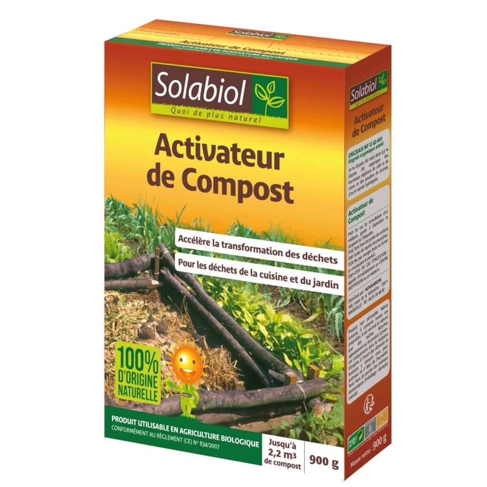 activateur de compost biologique 900g solabiol boite de. Black Bedroom Furniture Sets. Home Design Ideas