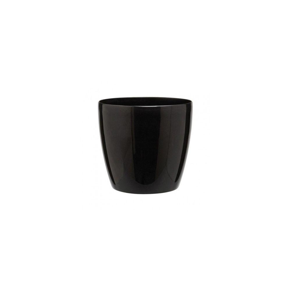 option cache pot brussels noir diam tre 20 cm 20 cm de diam tre gamm vert. Black Bedroom Furniture Sets. Home Design Ideas
