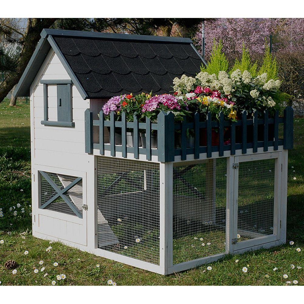 poulailler oregon avec terrasse 3 4 poules 2 colis. Black Bedroom Furniture Sets. Home Design Ideas