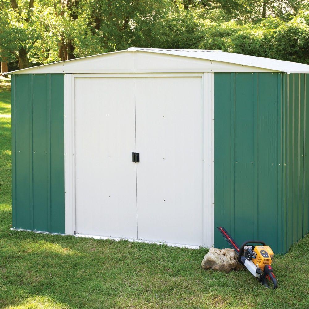 abri de jardin m tal 7 60 m ep 0 22 mm colis x x cm gamm vert. Black Bedroom Furniture Sets. Home Design Ideas