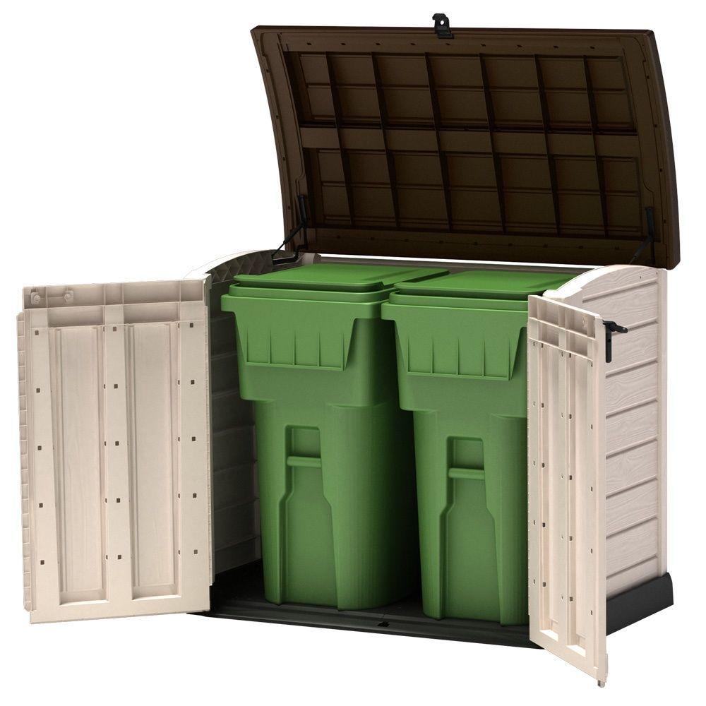 coffre de jardin r sine arc 1200l beige colis x x gamm vert. Black Bedroom Furniture Sets. Home Design Ideas