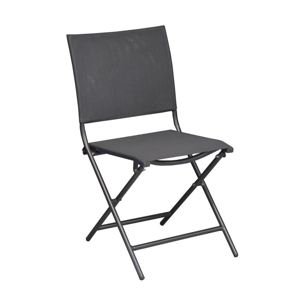 Salon de jardin Globe : Table aluminium + 6 chaises gris/orange ...