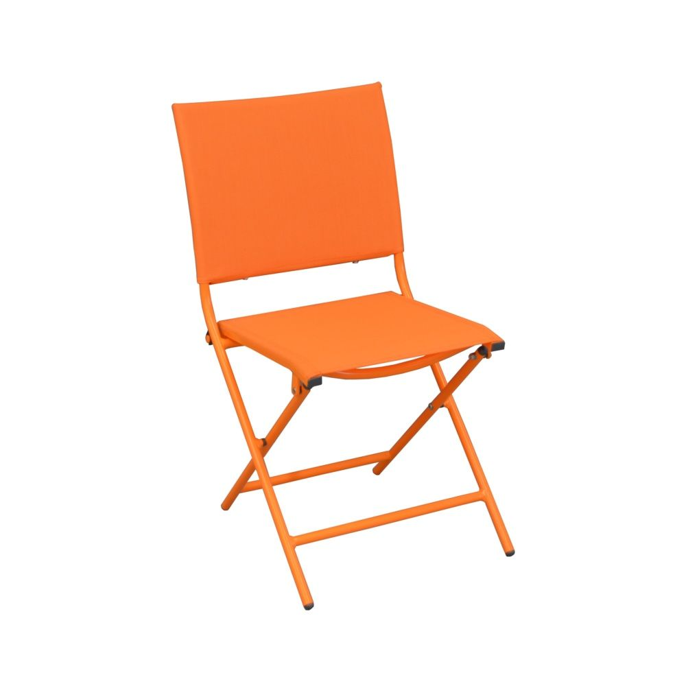 salon de jardin globe table aluminium 6 chaises gris orange gamm vert. Black Bedroom Furniture Sets. Home Design Ideas