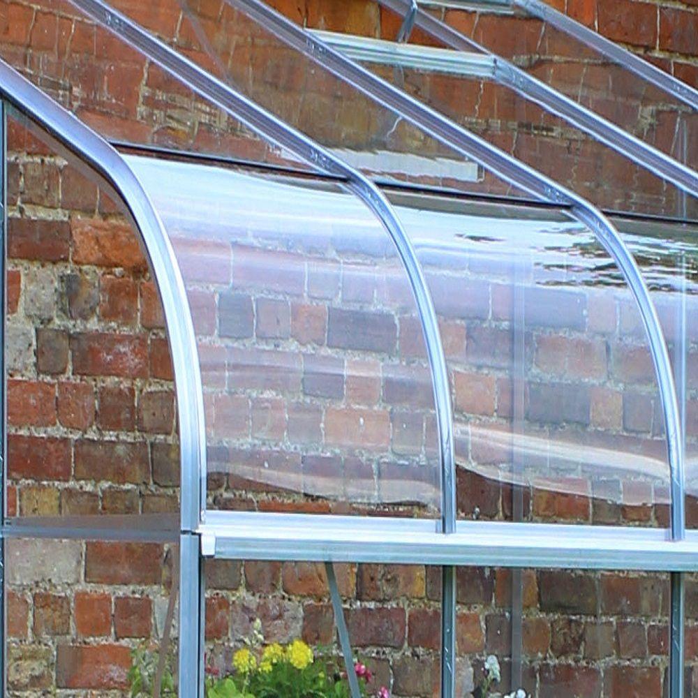 Serre de jardin adossée Silverline verre horticole 9.9 m² hors tout ...