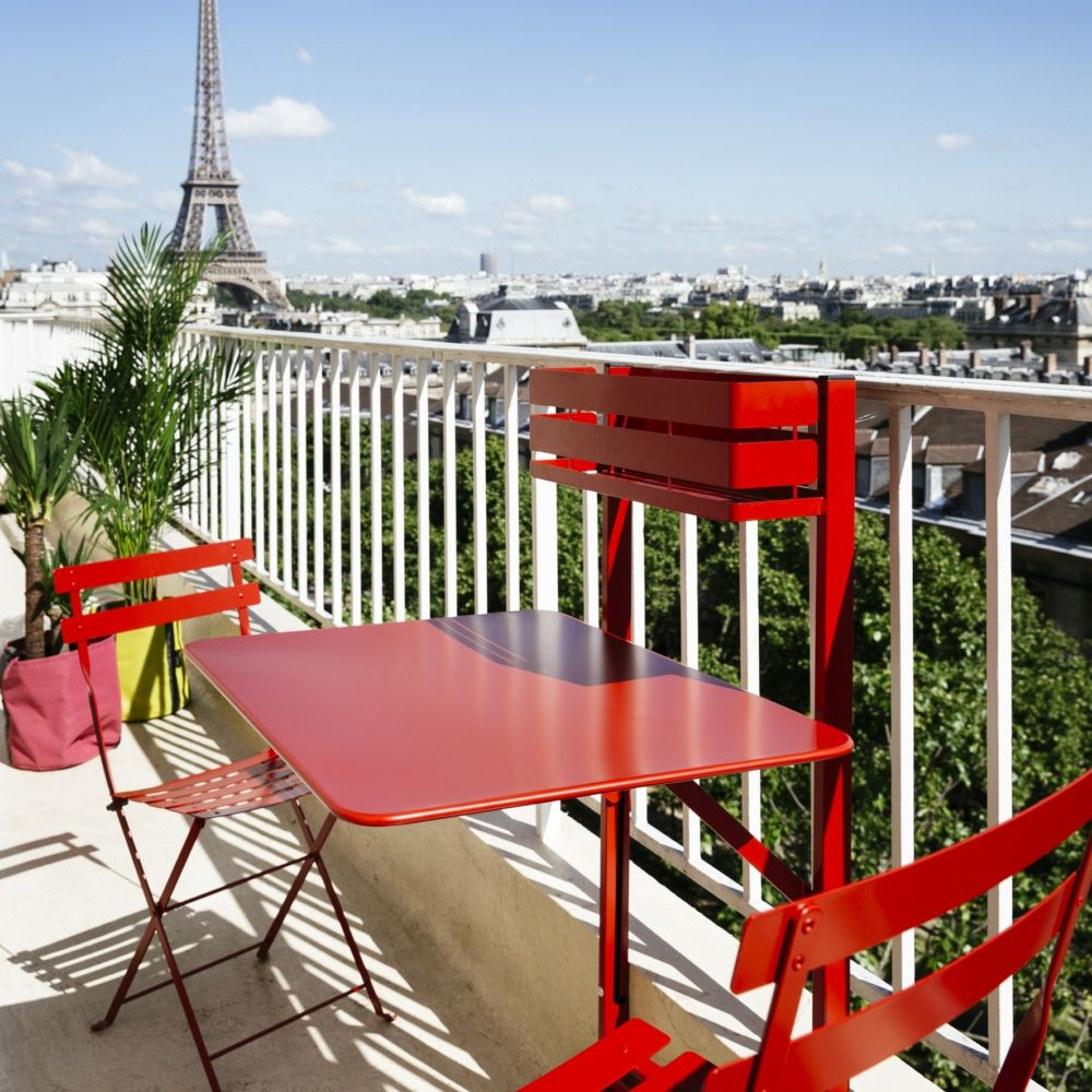 Salon de balcon Fermob Bistro : 1 table pliante + 2 chaises - Gamm Vert