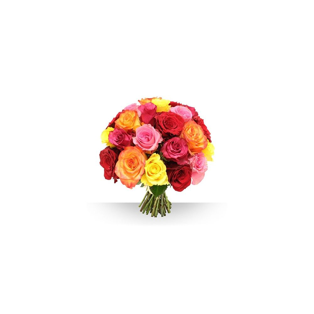bouquet de 21 roses gros boutons vari es boite cadeau gamm vert. Black Bedroom Furniture Sets. Home Design Ideas