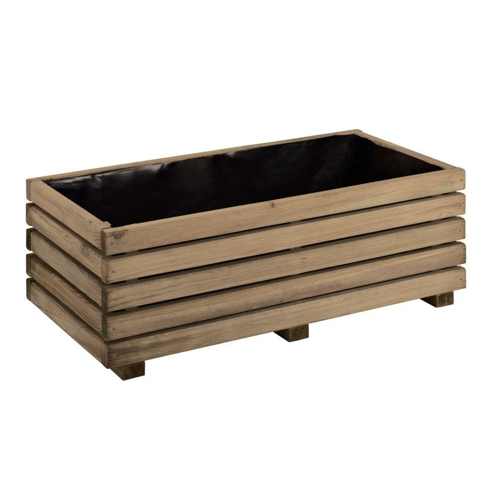 bac fleurs bois trait autoclave l80 h28 cm k b carton. Black Bedroom Furniture Sets. Home Design Ideas