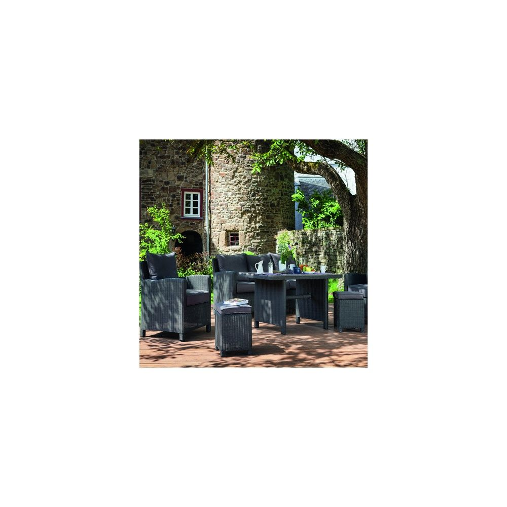 salon de jardin tress palma 2 fauteuils 1 tabouret anthracite taupe kettler cartons. Black Bedroom Furniture Sets. Home Design Ideas
