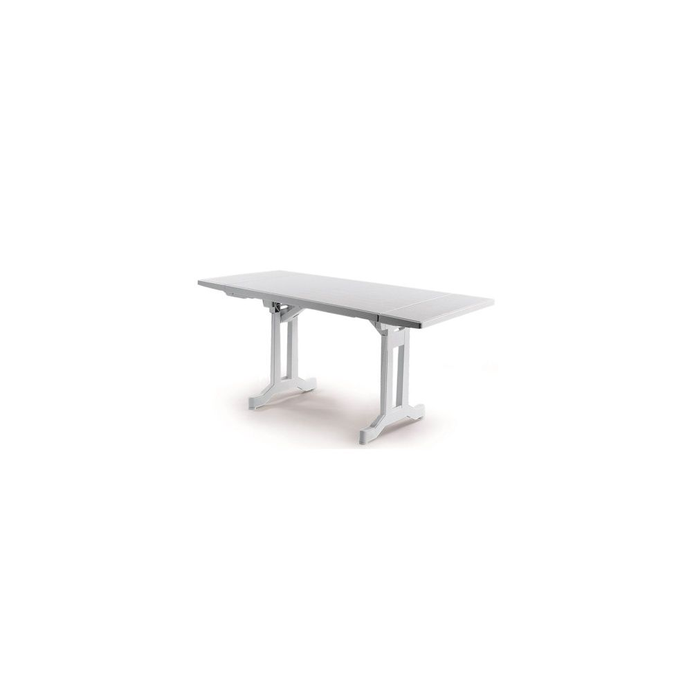Table pliante Perfecta 110/160 x 70 cm avec 2 allonges - blanc ...