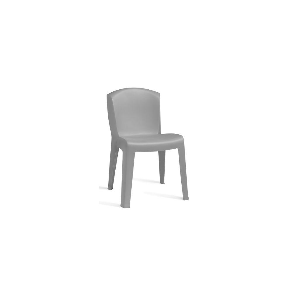 Chaises empilables Europa - lot de 4 - Gris clair - Evolutif - Gamm Vert