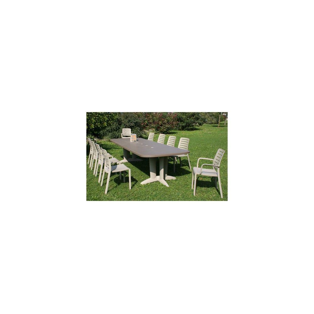 Salon de jardin Deco 6 personnes : Table 180/250/320 cm et 6 chaises ...