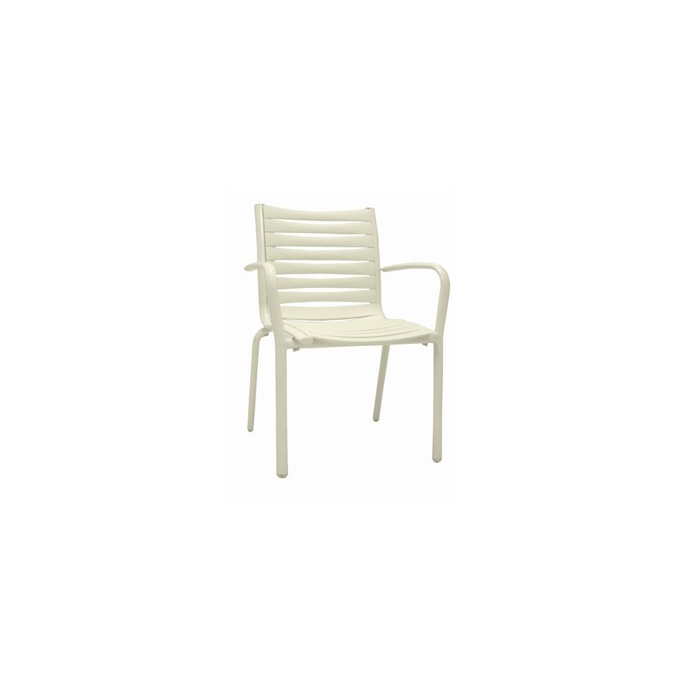 Fauteuils de jardin Floris empilables - lot de 2 - Blanc - Evolutif ...