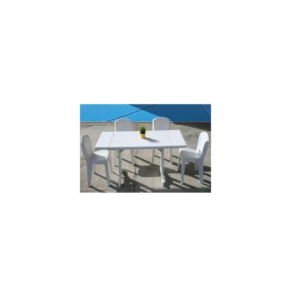 Salon de jardin 4 personnes : Table Perfecta et 4 chaises Europa ...