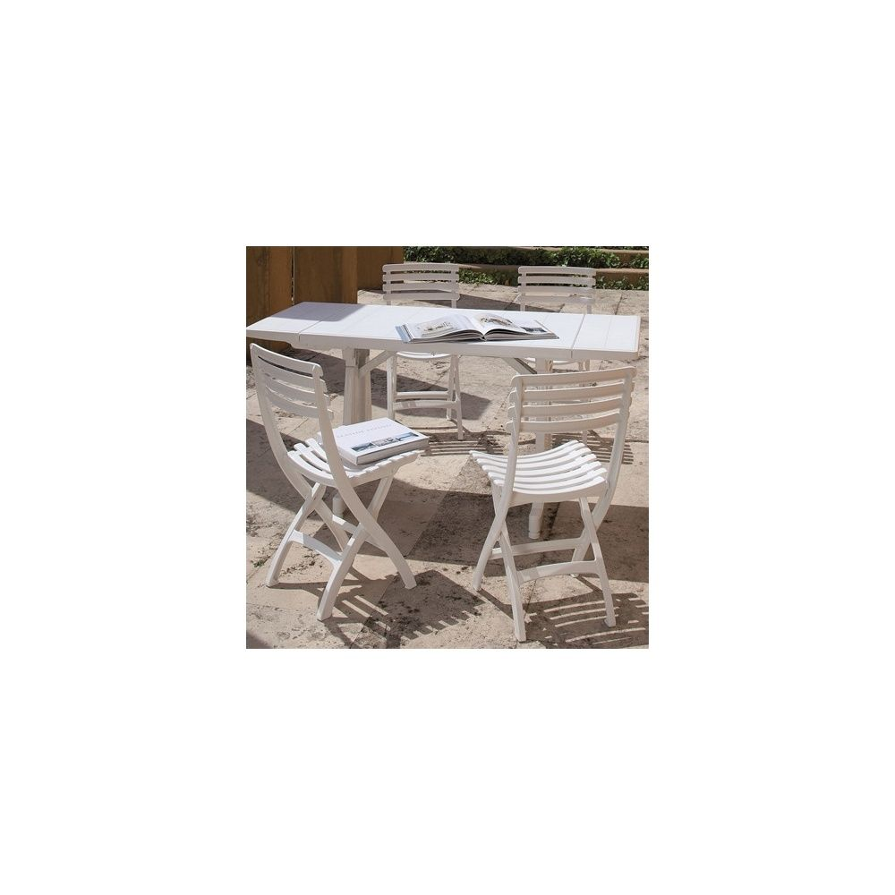 Salon de jardin 4 personnes : Table Perfecta 180/250/320 cm et 4 ...
