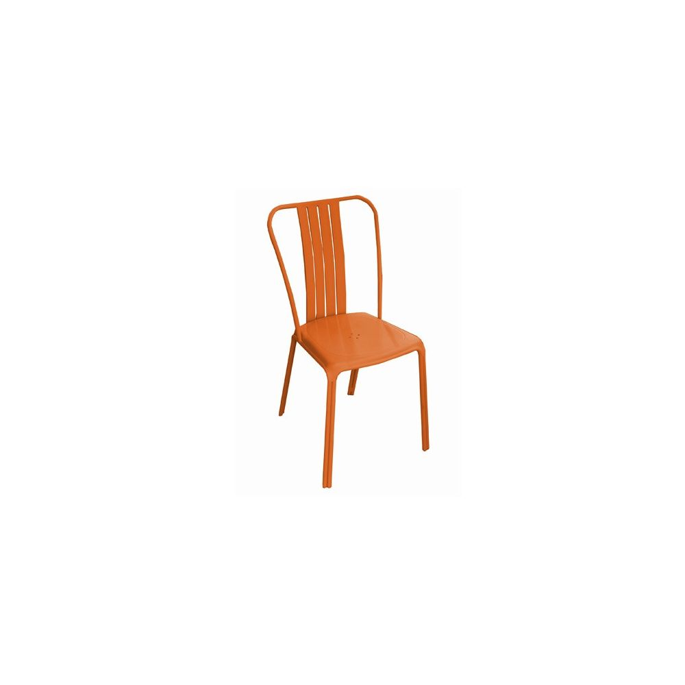 Lot de 2 Chaises empilables Azuro aluminium orange