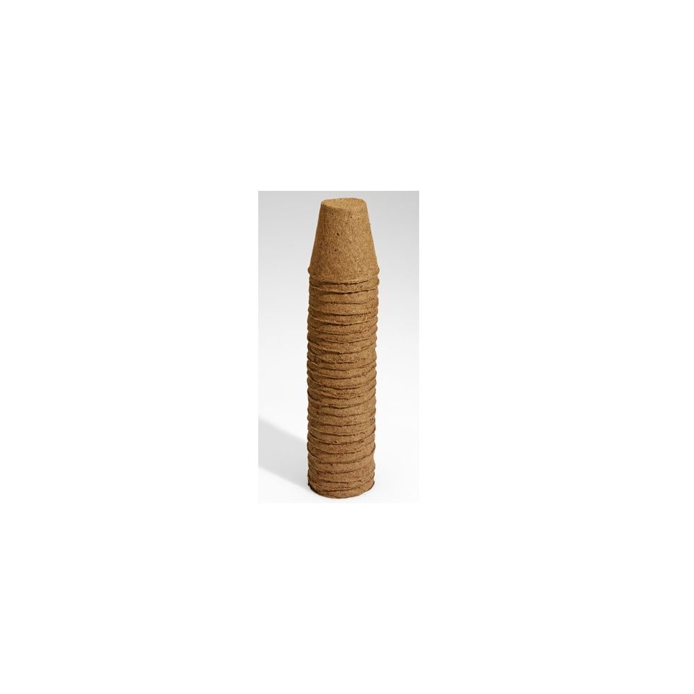 24 pots biodégradables ROND 6 cm – Gamm vert