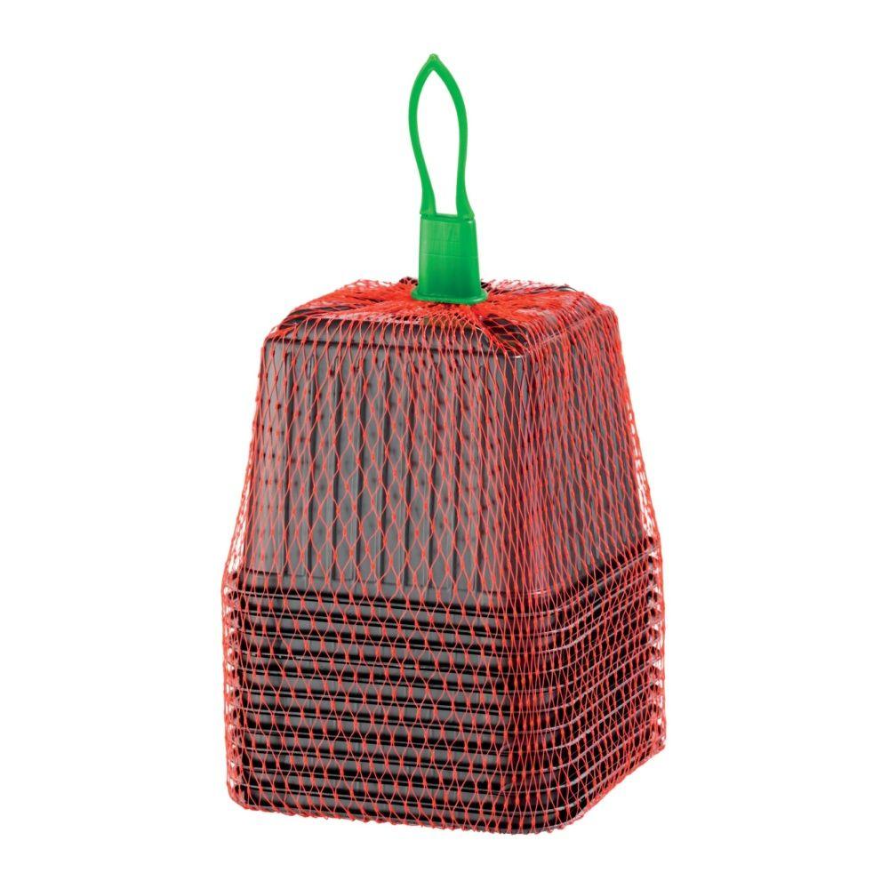12 pots plastiques carrés 9 cm – Gamm vert